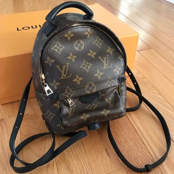 1dd19e2e93f1d Louis Vuitton Bags | Palm Springs Backpack Mini Monogram | Poshmark